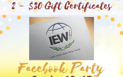 Win a $30 Gift Certificate for IEW!