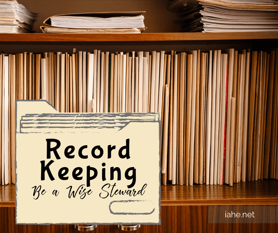 Record-keeping: Be a Wise Steward