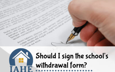 Should I sign the school's withdrawal form?