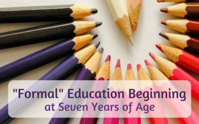 """""""Formal"""" Education Beginning at Seven Years of Age"""
